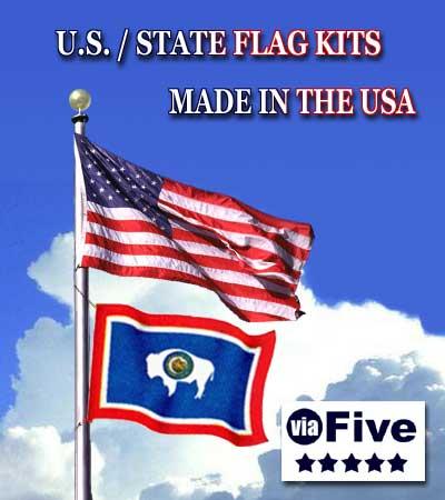 Flag Sets Two Flag Set3 Ft X 5 Ft Us Flag 3 Ft X 5 Ft